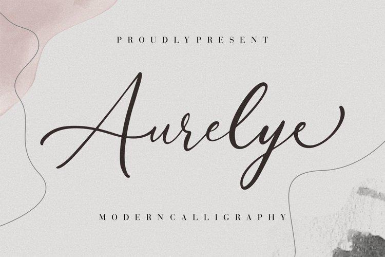 Aurelye Modern Calligraphy example image 1