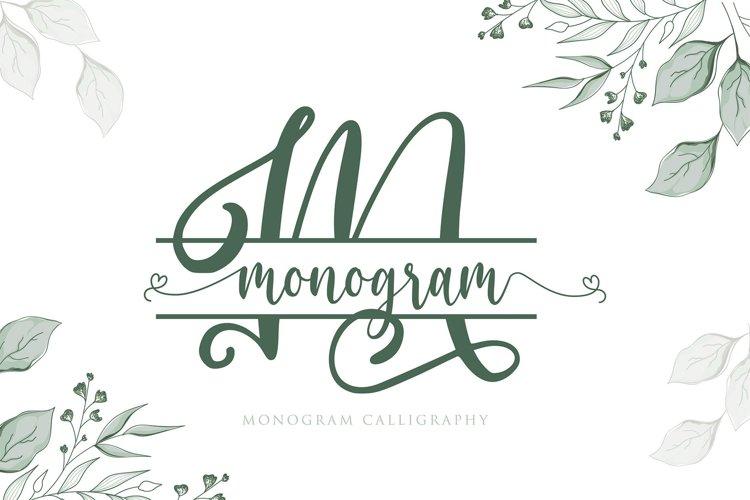 Monogram Calligraphy example image 1