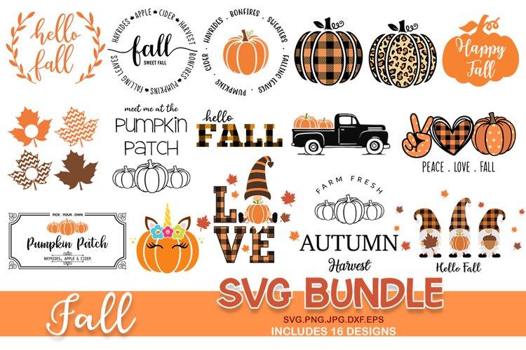 Fall svg bundle, pumpkin SVG, Fall Circle SVG, fall svg example image 1