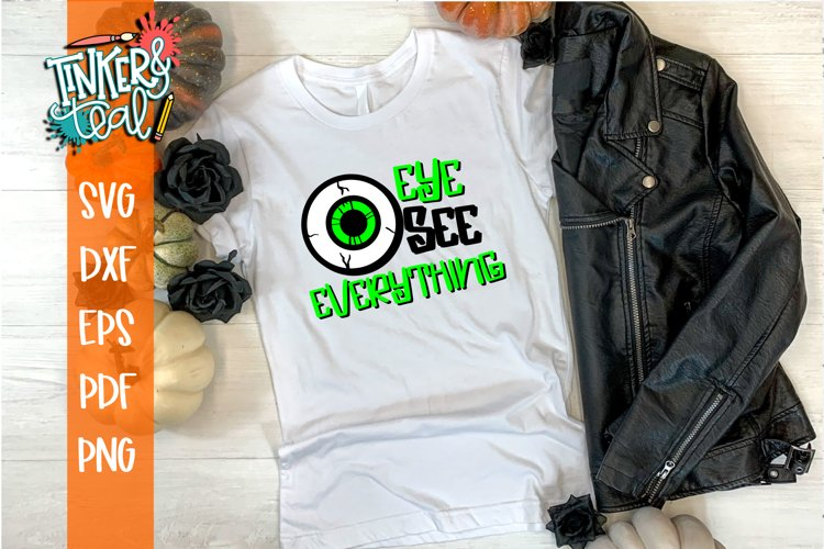 Eye See Everything Halloween SVG Cut File example image 1
