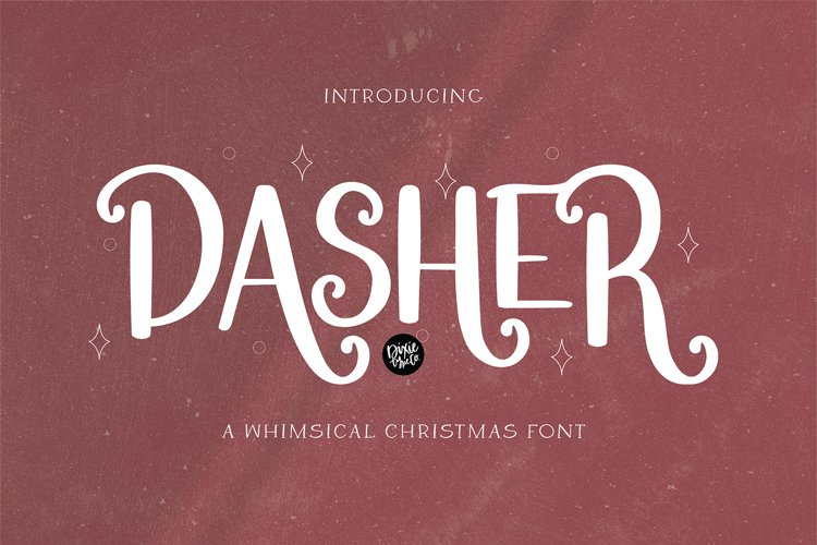 DASHER a Farmhouse Christmas Display Font