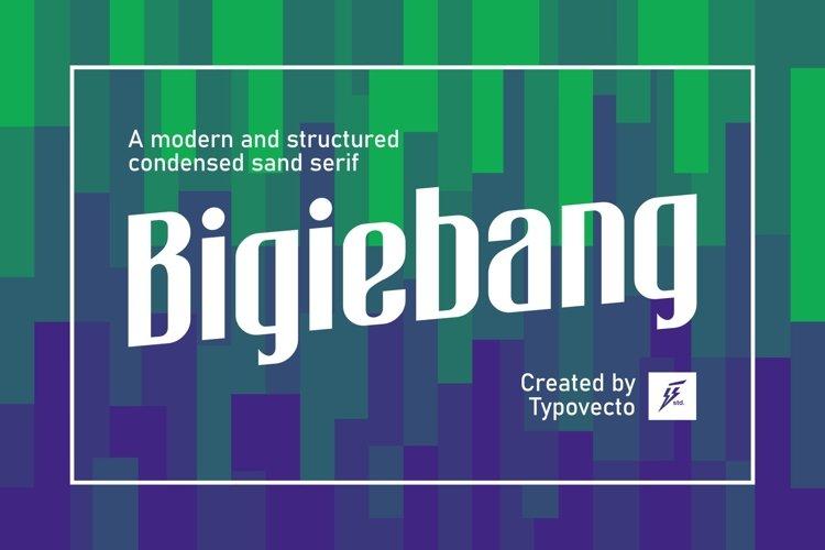 Bigiebang Condensed Font example image 1