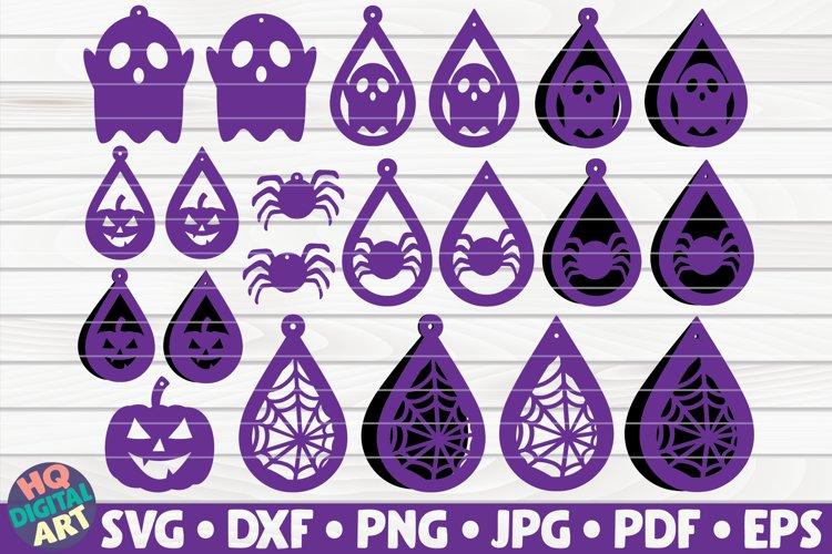 21 Halloween Earrings SVG Bundle| teardrop earrings example image 1