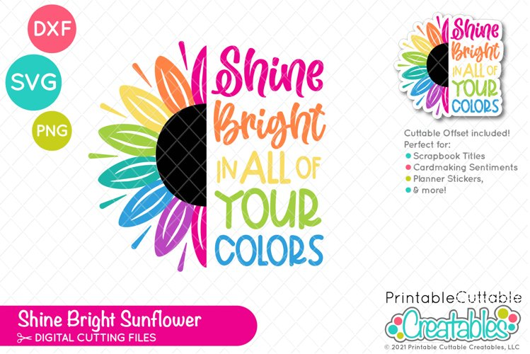 Shine Bright Sunflower SVG File