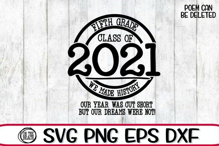 2021 SVG - Proud Member Fifth Grade 2021- SVG PNG EPS DXF