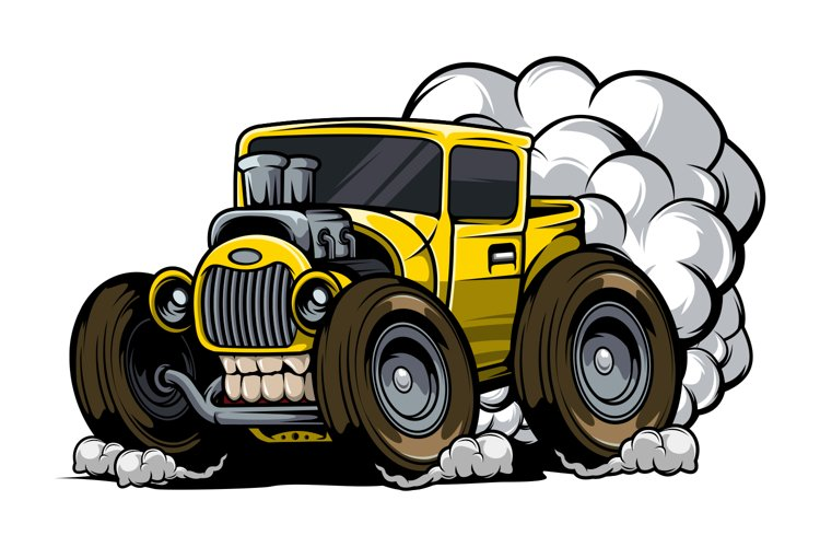 Hotrod with exhaust fumes example image 1