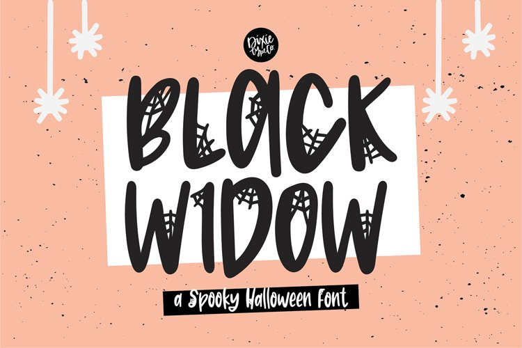 BLACK WIDOW a Webbed Halloween Font example image 1