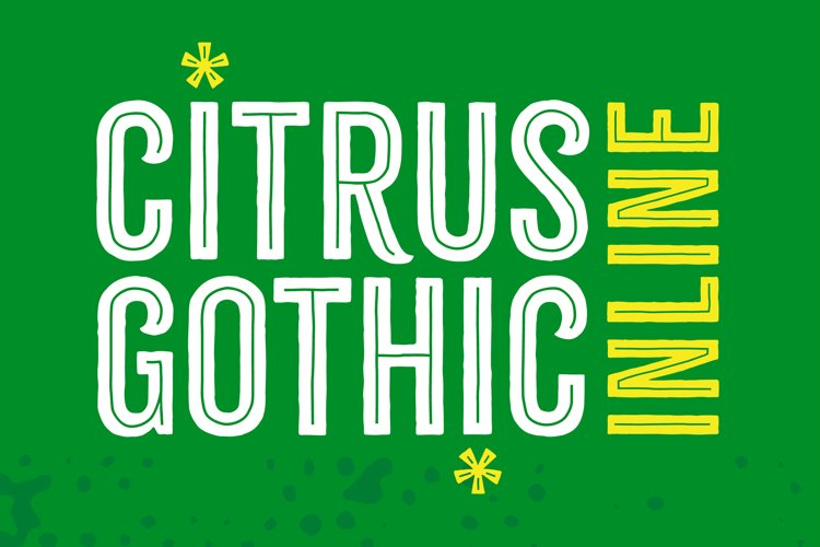 Citrus Gothic Inline Font example image 1
