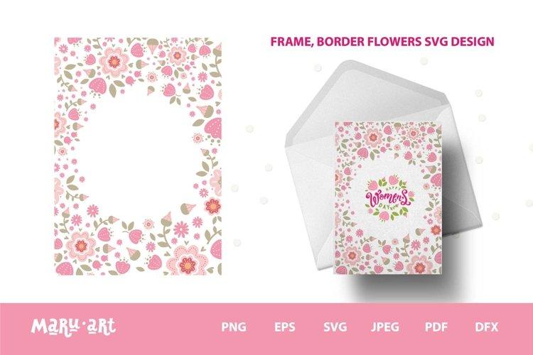 Spring flowers frame. Frame floral svg, png
