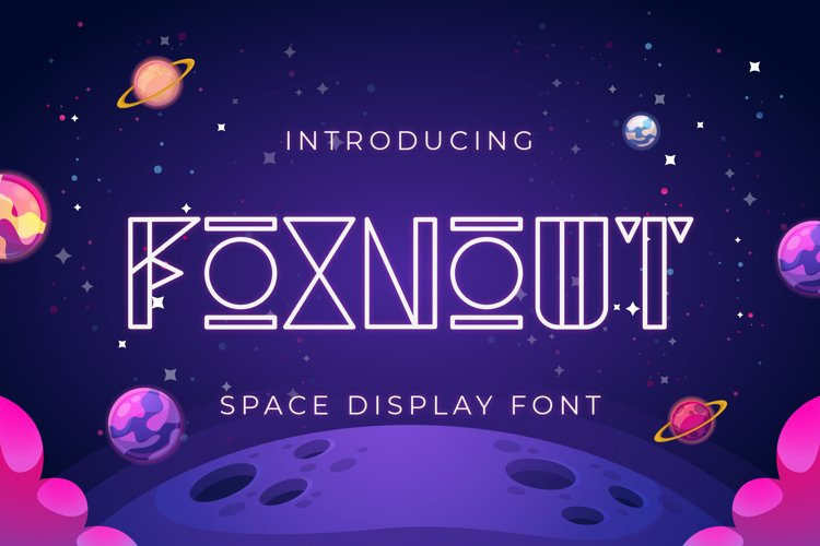 Foxnout - Space Display Font example image 1