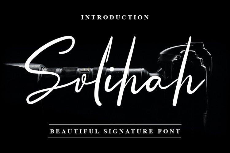Solihah - Beautiful Signature Font example image 1