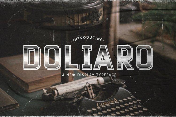 Web Font Doliaro example image 1