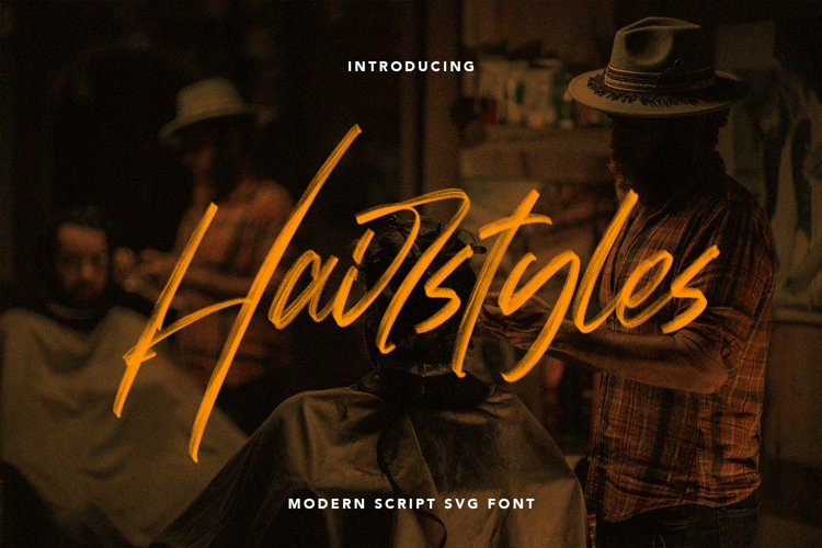 Hairstyle - Modern SVG Font example image 1