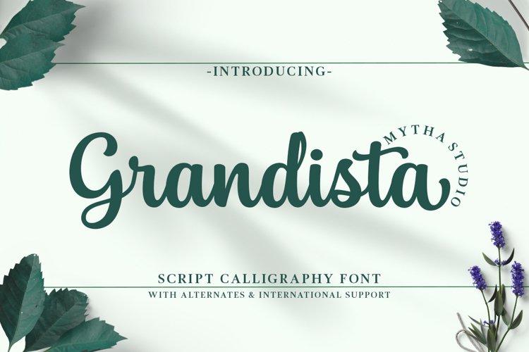 Grandista Script example image 1