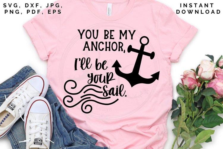Anchor and Sail svg, Love cut file