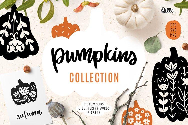 Decorative Pumpkin Clipart, SVG, EPS