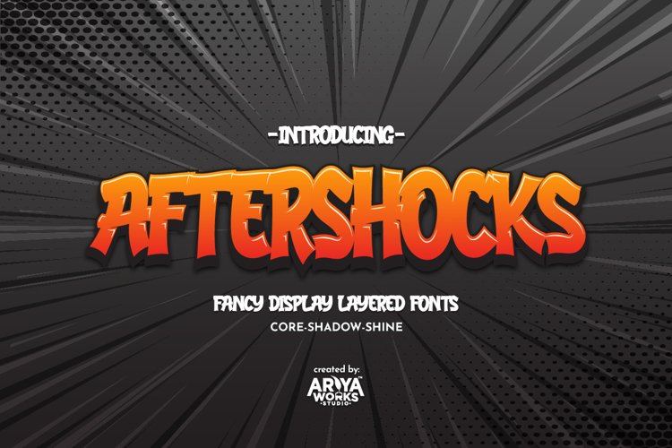 Aftershocks | Display Layered Fonts
