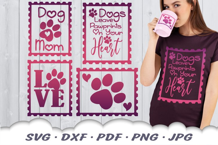 Dog Mom Postage Stamps SVG Bundle DXF Cut Files example image 1