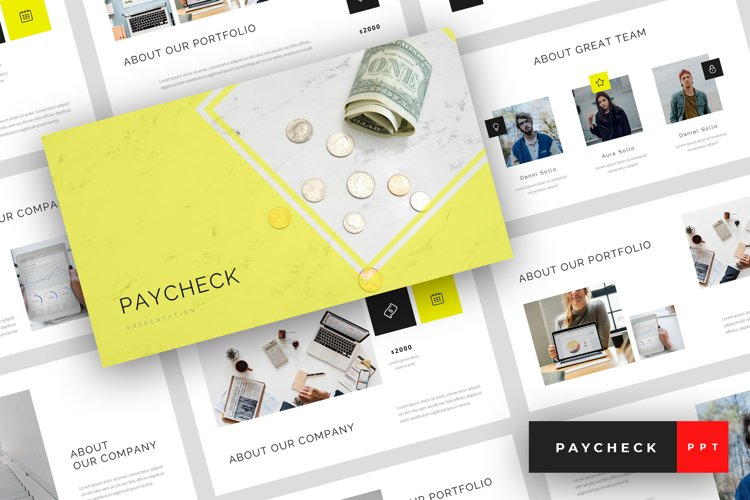 Paycheck - Finance PowerPoint Template example image 1
