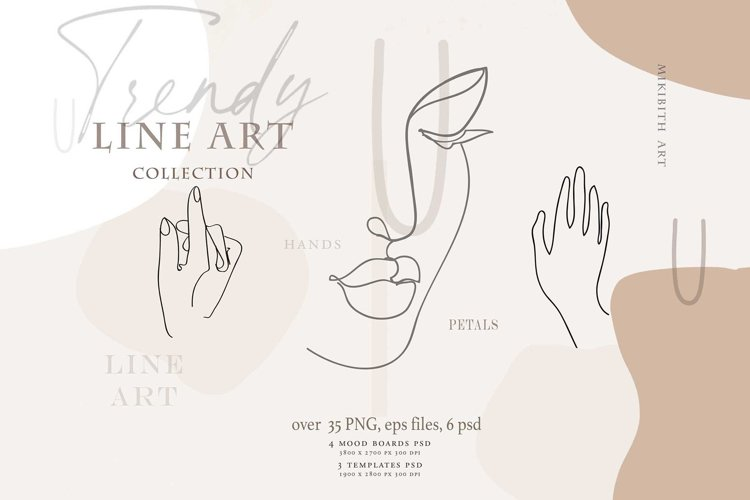 LINE ART FEMALE collection