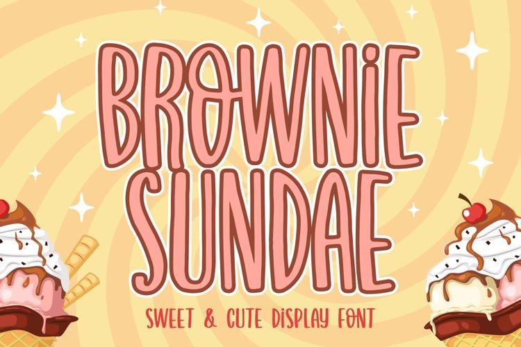 Brownie Sundae example image 1