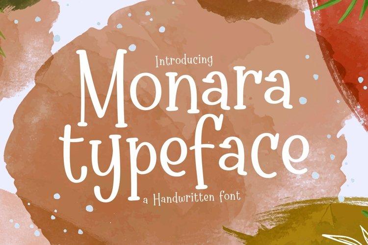 Web Font Monara example image 1