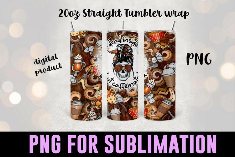 Coffee Sublimation Tumbler Wrap - Coffee Tumbler Design