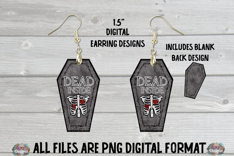 Coffin Death RIP Sublimation Earring