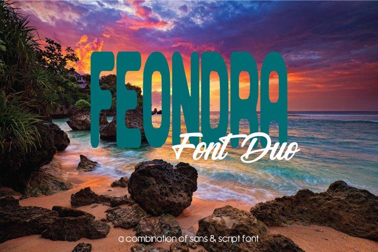Feondra Font Duo | a Combination of Sans & Script Font