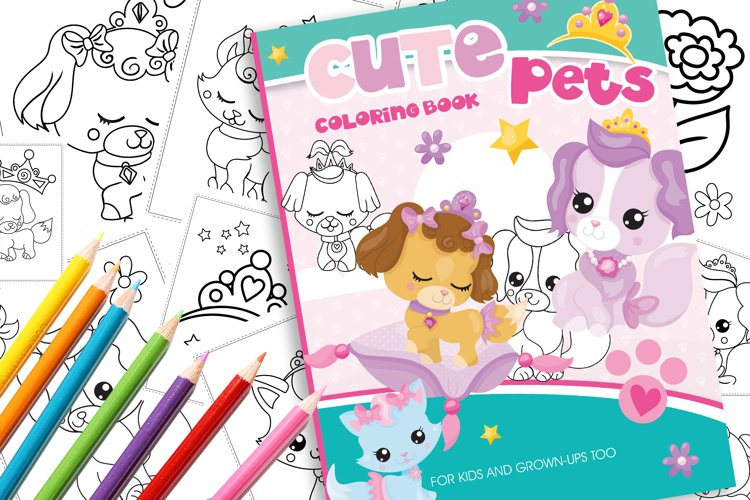 Cute Pets Coloring Book example image 1