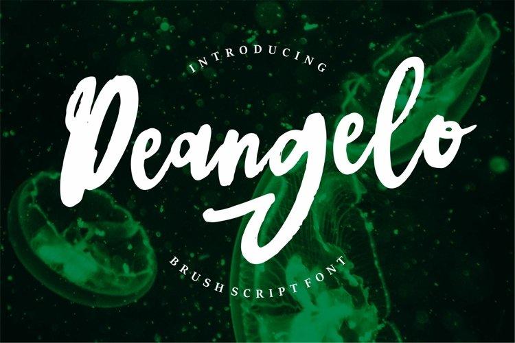 Deangelo - Brush Script Font example image 1