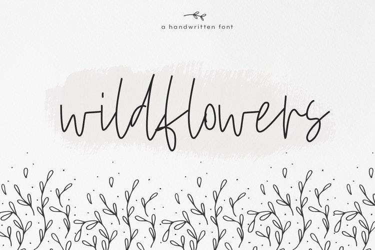 Wildflowers - A Handwritten Script Font example image 1