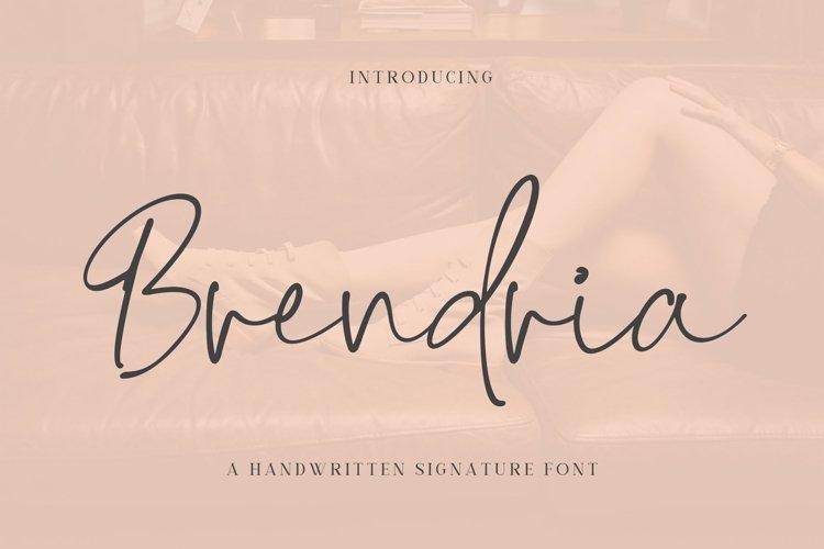 Brendria - Signature Font example image 1