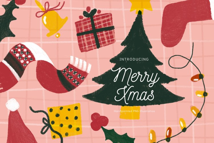 Merry Xmas Hand Drawn Illustration Pack example image 1