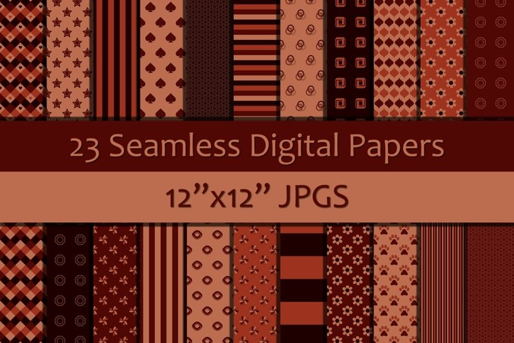 Shades of Red Digital Papers, Seamless Backgrounds example image 1