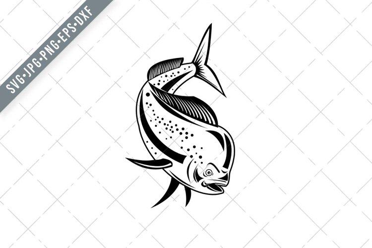 Download Mahi Mahi Dorado Dolphinfish Jumping With Fishing Boat Svg 794465 Illustrations Design Bundles