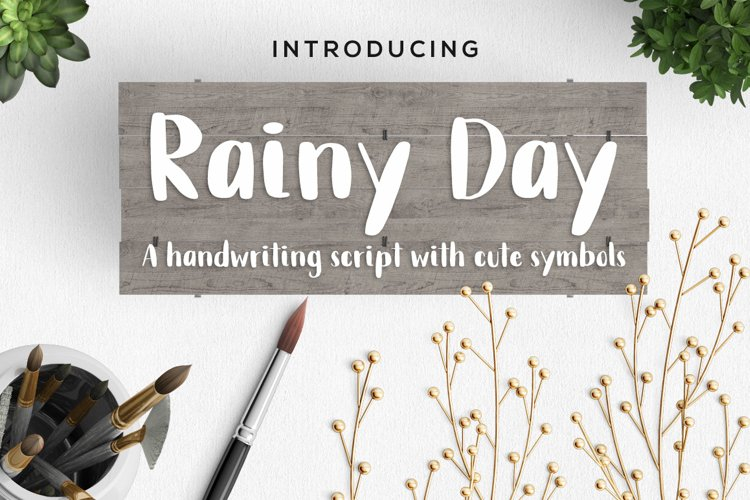 Rainy Day Handwriting Script Font example image 1