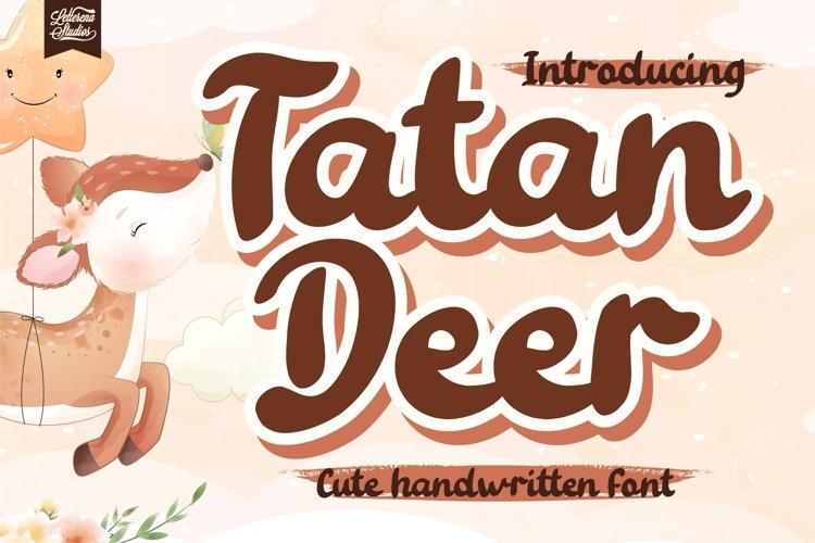 Tatan Deer - Cute Handwritten Font example image 1