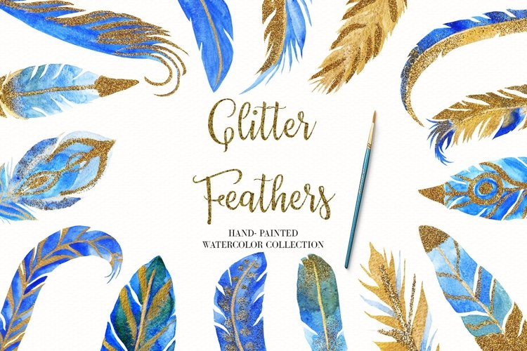 Watercolor Feather Illustrations, Sublimination Designs