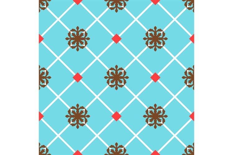 Blue spanish ornamental ceramic tile example image 1