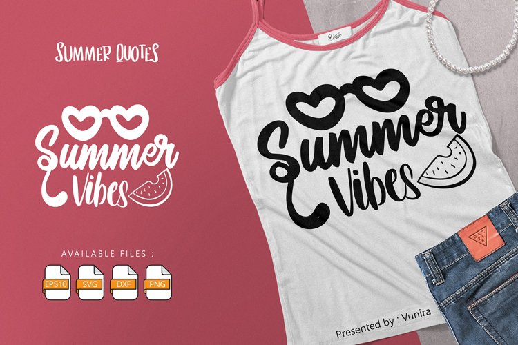 Summer Vibes | Lettering Quotes example image 1