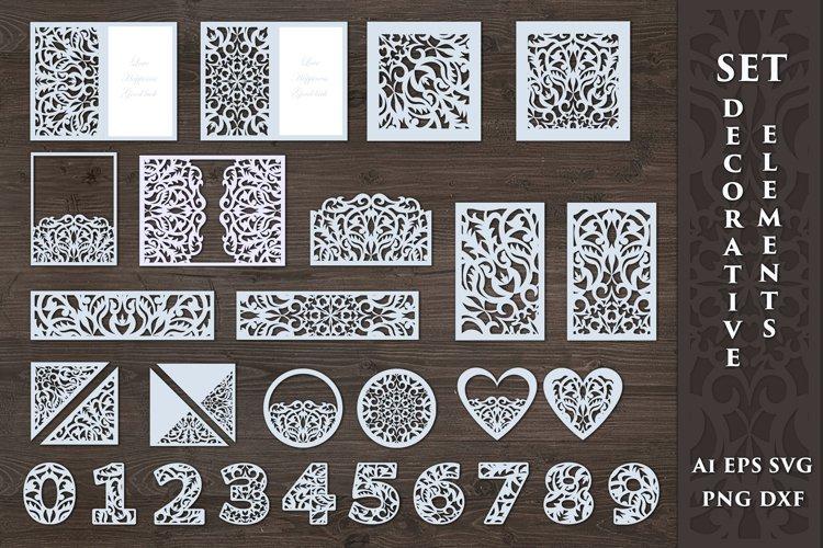 Carved decorative elements. SVG.