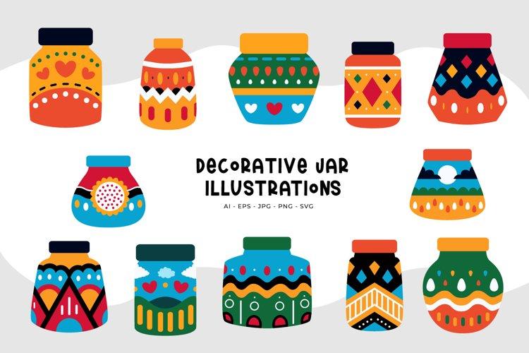 Decorative Jar Illustrations