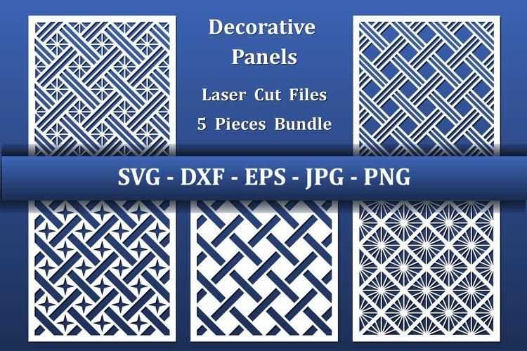 Laser cut Panels or Card background. CNC cut files, paper ar