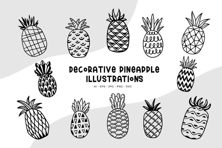 Decorative Pineapple Illustrations