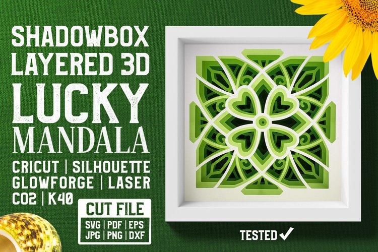 Lucky Mandala 3D Layered SVG Cut File example image 1