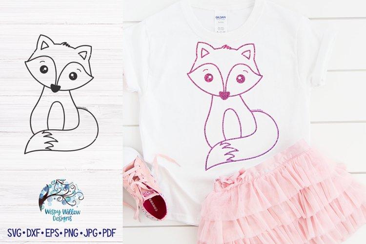 Cute Fox SVG | Fox Outline SVG Cut File