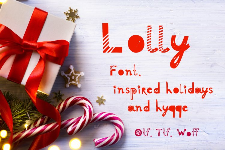 Lolly font example image 1