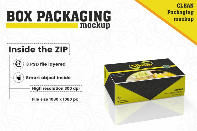 Box Packaging Mockup