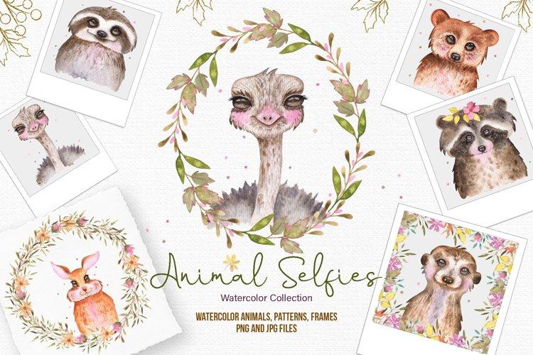 Watercolor Animal Selfies example image 1